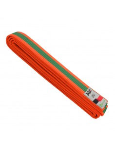 Belt two-tone, orange/green/orange