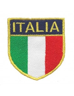 Scudetto Patch Italia gold