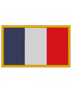 Embroidery-flag of France