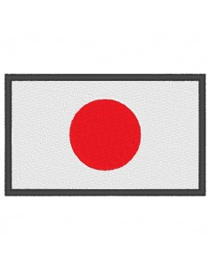 Stickerei flagge Japan
