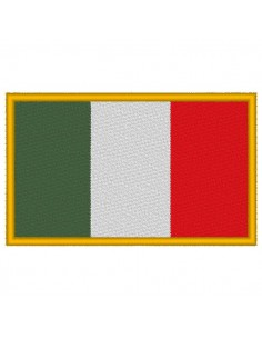 Italy flag embroidery