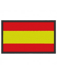 Embroidery flag Spain