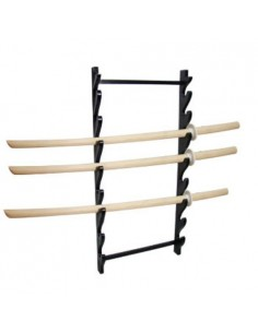 Stand 8 pieces wooden wall black