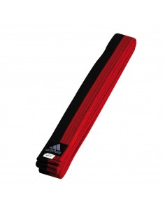 Belt, Adidas taekwondo Poomsae black-red