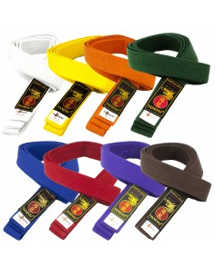 Colored belt Yoryu 100% cotton