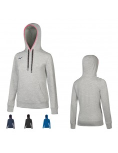 Sweatshirt Mizuno women's Team with a hood