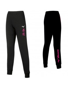 Pantalone Mizuno Judo kanji donna Team Sweat Nero