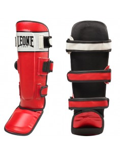 Shin-guards Leone Shock red
