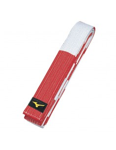 Belt Mizuno Sensei 6th dan red/white