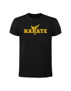 T-shirt Karate gold aus...