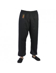Pants Kung Fu Yoryu with elastic ankles black